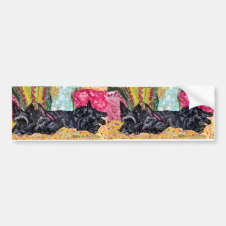 Scottish Terrier Cottage Bumper Sticker