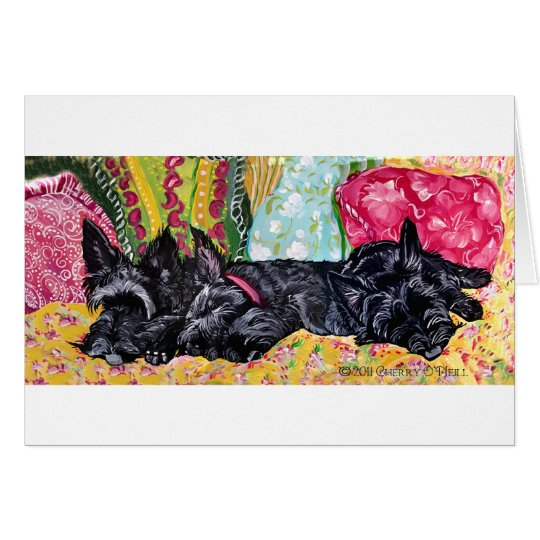 Scottish Terrier Cottage Card