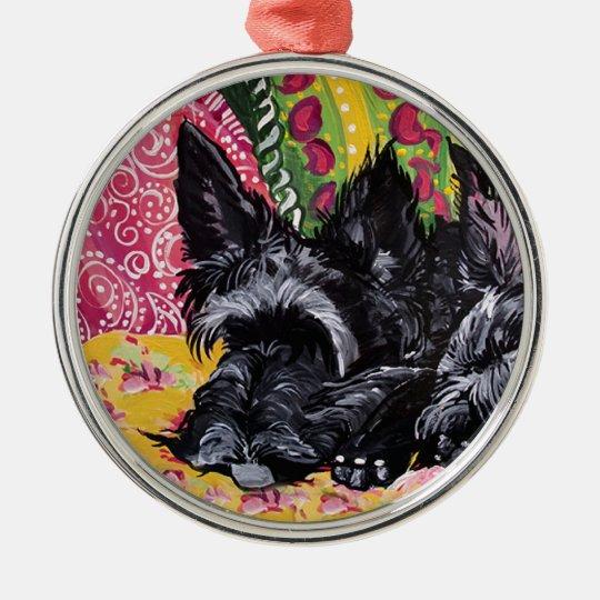 Scottish Terrier Cottage Chic Metal Ornament