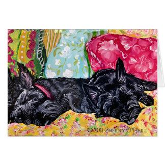 Scottish Terrier Cottage Greeting Card