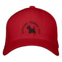 Scottish Terrier Dad Scottie Dog Embroidered Baseball Hat
