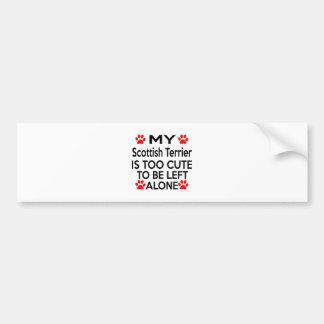 Scottish Terrier Designs Car Bumper Sticker