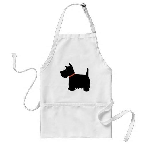 Scottish Terrier dog black silhouette apron