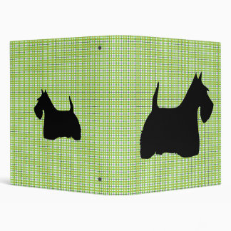 Scottish Terrier dog black silhouette, binder