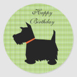 Scottish Terrier dog black silhouette dog stickers