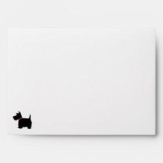 Scottish Terrier dog black silhouette envelopes