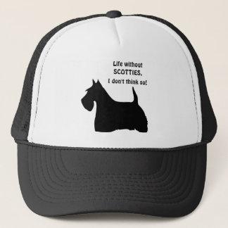Scottish Terrier dog black silhouette  fun hat cap