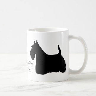 Scottish Terrier dog black silhouette fun mug