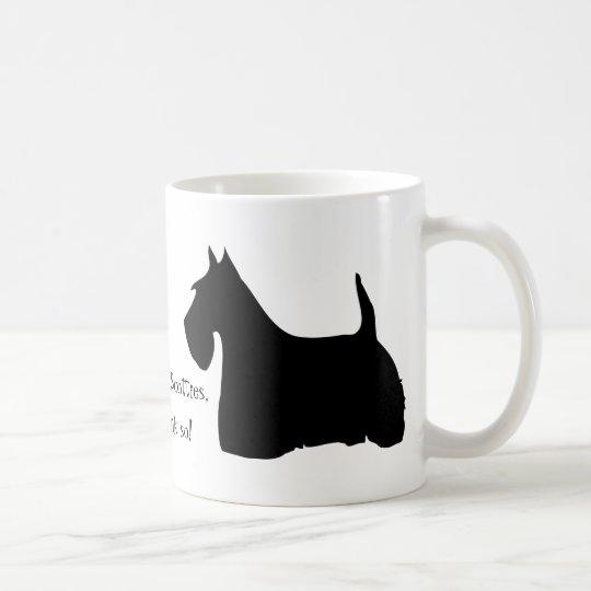 Scottish Terrier dog black silhouette fun mug