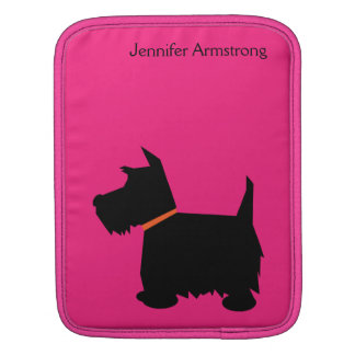 Scottish Terrier dog black silhouette ipad sleeve