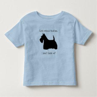 Scottish Terrier dog black silhouette kids t-shirt