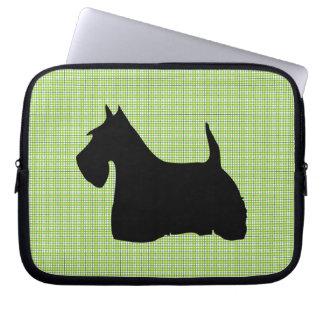 Scottish Terrier dog black silhouette laptop bag Laptop Computer Sleeve
