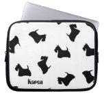 Scottish Terrier dog black silhouette laptop bag Laptop Sleeves