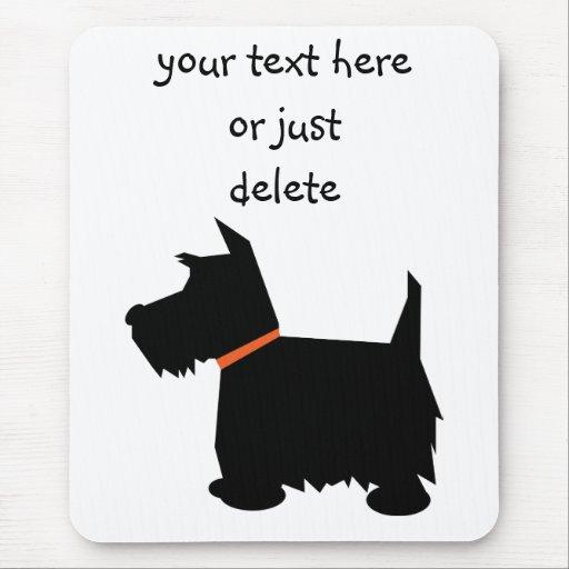 Scottish Terrier dog black silhouette mousepad Mouse Pad