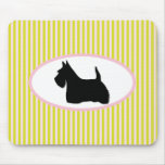 Scottish Terrier dog black silhouette mousepad