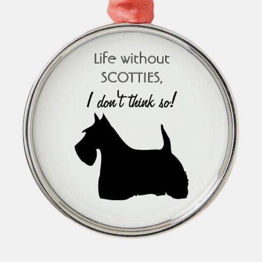 Scottish Terrier dog black silhouette ornament