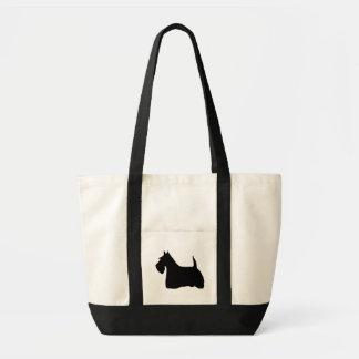 Scottish Terrier dog black silhouette tote bag