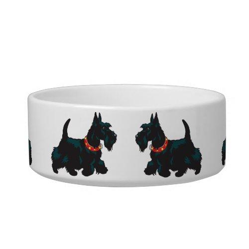 scottish terrier dog bowl