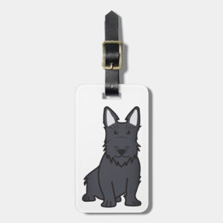Scottish Terrier Dog Cartoon Bag Tag