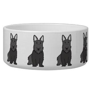 Scottish Terrier Dog Cartoon Bowl