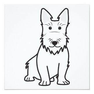 Scottish Terrier Dog Cartoon Card