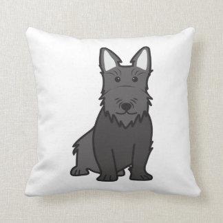 Scottish Terrier Dog Cartoon Pillow