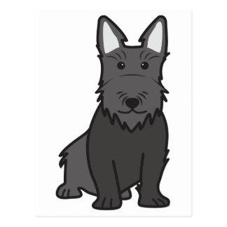 Scottish Terrier Dog Cartoon Postcard