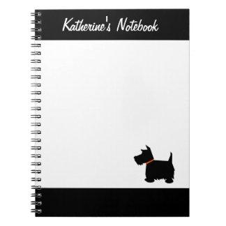 Scottish Terrier dog custom name notebook