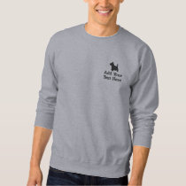 Scottish Terrier Dog Custom Personalized Embroidered Sweatshirt