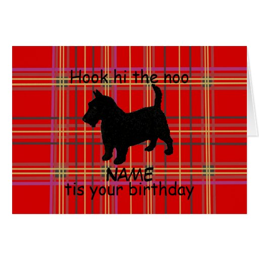Scottish Terrier Dog Customize Card, Scots dialect