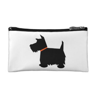 Scottish Terrier dog cute black silhouette, gift Cosmetic Bag