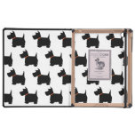 Scottish Terrier dog cute black silhouette, gift iPad Covers