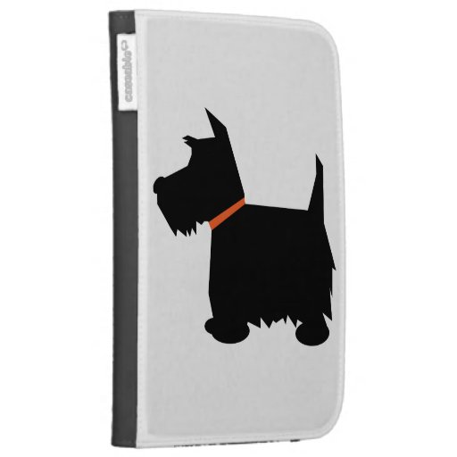 Scottish Terrier dog cute black silhouette, gift Kindle Case