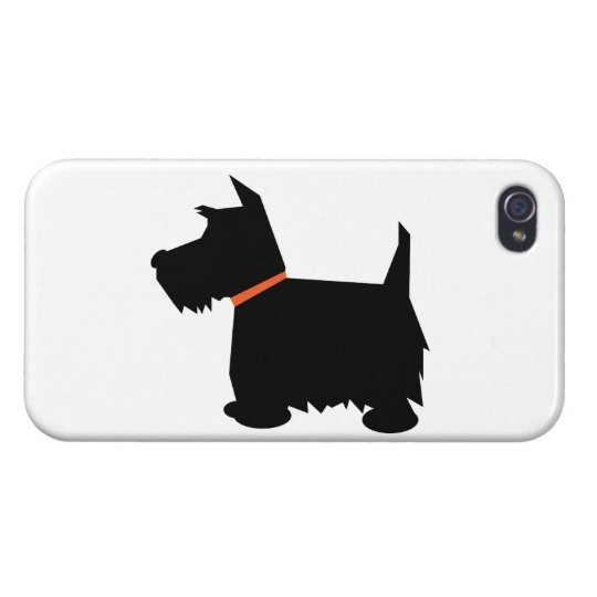 Scottish Terrier dog cute black silhouette, gift iPhone 4 Covers