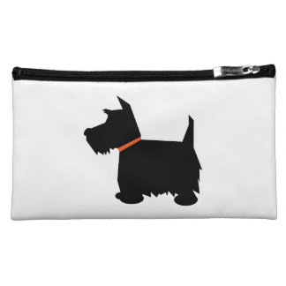 Scottish Terrier dog cute black silhouette, gift Makeup Bag