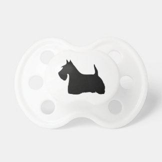 Scottish Terrier dog cute silhouette baby soother Pacifier