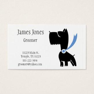Scottish Terrier Dog Groomer Business Card