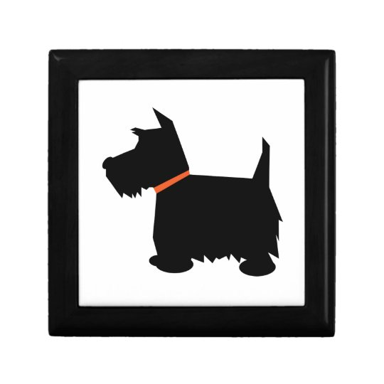 Scottish Terrier dog jewelry box trinket box