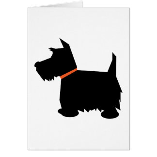 Scottish Terrier dog note card greetings card