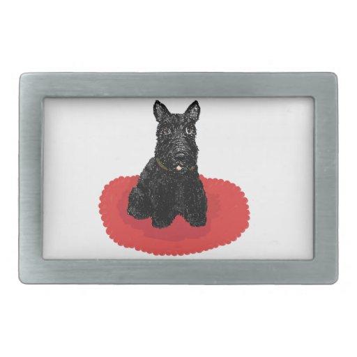 Scottish Terrier Dog Rectangular Belt Buckle