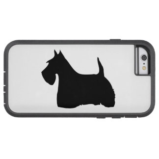 Scottish terrier dog, scottie black dog silhouette tough xtreme iPhone 6 case