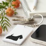 Scottish Terrier dog, scottie black silhouette Acrylic Keychains