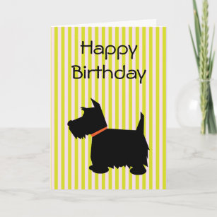 Scottish terrier birthday cards zazzle scottish terrier dog silhouette birthday card m4hsunfo