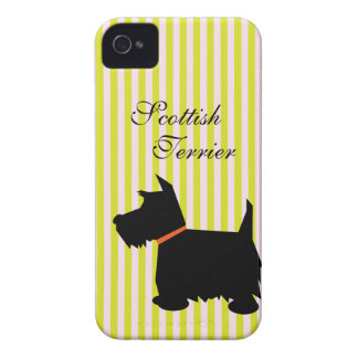 Scottish Terrier dog silhouette blackberry case