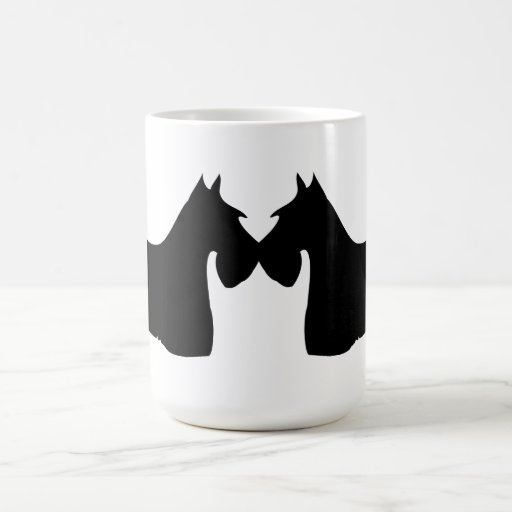 Scottish Terrier dog silhouette coffee, tea mug