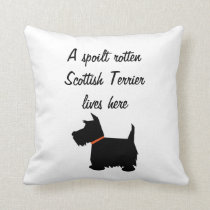 Scottish Terrier dog silhouette cushion pillow