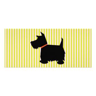 Scottish Terrier dog silhouette custom bookmark Customized Rack Card