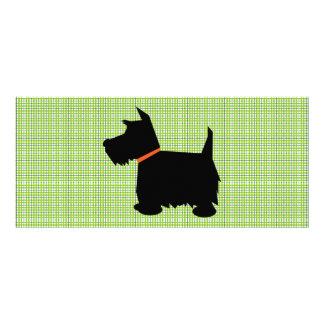 Scottish Terrier dog silhouette custom bookmark Rack Card Design