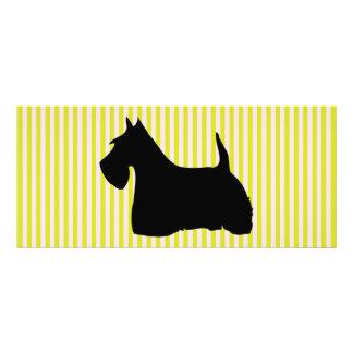 Scottish Terrier dog silhouette custom bookmark Custom Rack Cards