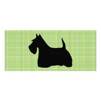 Scottish Terrier dog silhouette custom bookmark Custom Rack Card